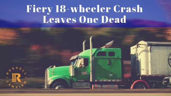 18 wheeler crash
